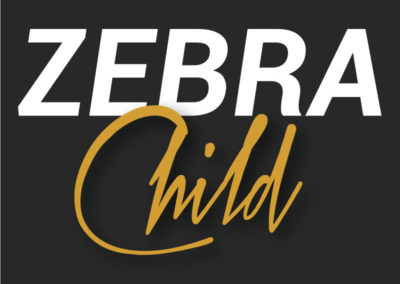 logo zebra child wildesign